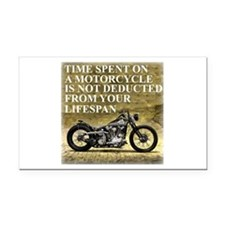 Time Spent On A Motorcycle Rectangle Car Magnet
