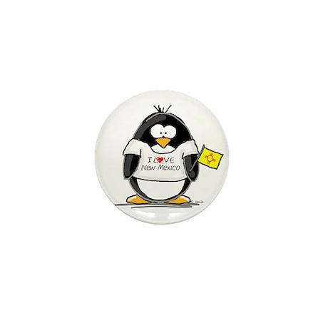 New Mexico Penguin Mini Button