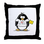 New Mexico Penguin Throw Pillow