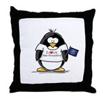 New Hampshire Penguin Throw Pillow