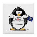 New Hampshire Penguin Tile Coaster