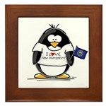 New Hampshire Penguin Framed Tile