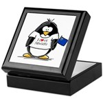 Nevada Penguin Keepsake Box