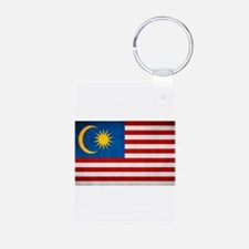 flag of Malaysia Jalur Gemilang Keychains