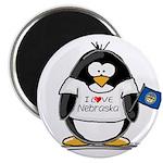 Nebraska Penguin Magnet