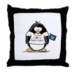 Nebraska Penguin Throw Pillow