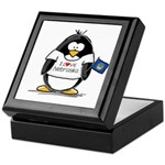 Nebraska Penguin Keepsake Box