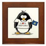Nebraska Penguin Framed Tile