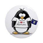 Montana Penguin Ornament (Round)