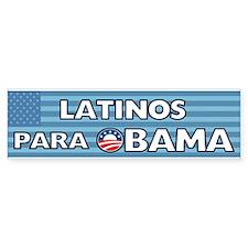 Latinos Para Obama Bumper Sticker