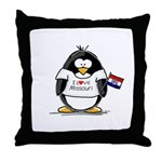 Missouri Penguin Throw Pillow