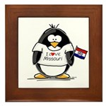 Missouri Penguin Framed Tile