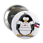 Mississippi Penguin Button
