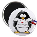 Mississippi Penguin Magnet