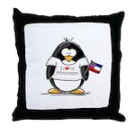 Mississippi Penguin Throw Pillow