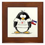 Mississippi Penguin Framed Tile