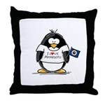 Minnesota Penguin Throw Pillow