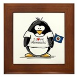 Minnesota Penguin Framed Tile