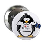 Michigan Penguin Button