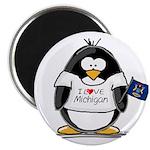 Michigan Penguin Magnet