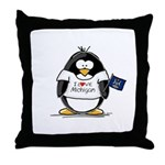Michigan Penguin Throw Pillow