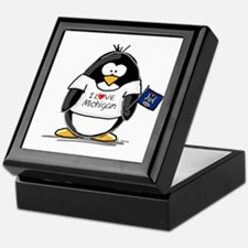 Michigan Penguin Keepsake Box