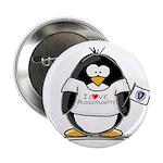 Massachusetts Penguin Button