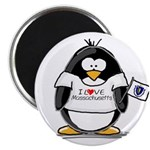 Massachusetts Penguin Magnet
