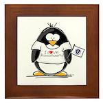 Massachusetts Penguin Framed Tile