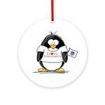 Massachusetts Penguin Ornament (Round)