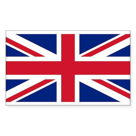 UK Falg Sticker (Rectangle 10 pk)