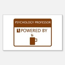 Psychology Professor Powered by Coffee Decal