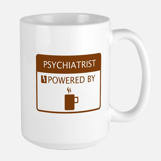 Psychiatrist Powered by Coffee Large Mug