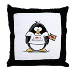 Maryland Penguin Throw Pillow