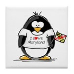 Maryland Penguin Tile Coaster