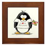 Maryland Penguin Framed Tile