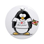 Maryland Penguin Ornament (Round)