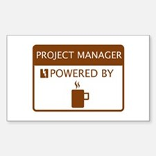 Project Manager Powered by Coffee Decal
