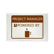 Project Manager Powered by Coffee Rectangle Magnet
