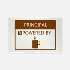 Principal Powered by Coffee Rectangle Magnet