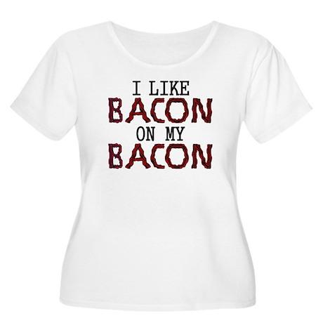 I Like Bacon on my Bacon Women's Plus Size Scoop N