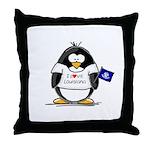 Louisiana Penguin Throw Pillow