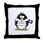 Kentucky Penguin Throw Pillow