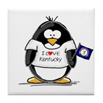 Kentucky Penguin Tile Coaster