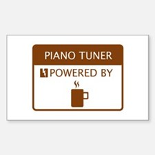 Piano Tuner Powered by Coffee Decal