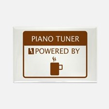 Piano Tuner Powered by Coffee Rectangle Magnet