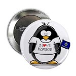 Kansas Penguin Button