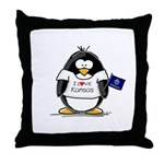 Kansas Penguin Throw Pillow