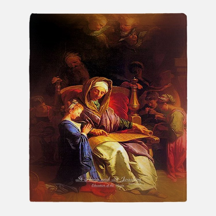 Saint Anne, Education of Mary Throw Blanket