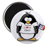 Iowa Penguin Magnet